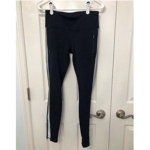 Navy Athleta Fleece lined leggings XS